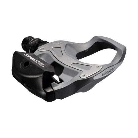 Pedály Shimano PD-R550 SPD-SL + kufry, stříbrné