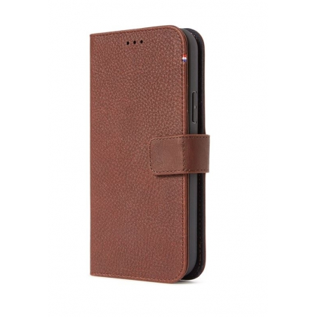 Pouzdro Decoded Leather Detachable Wallet pro iPhone 12 Mini - hnědé
