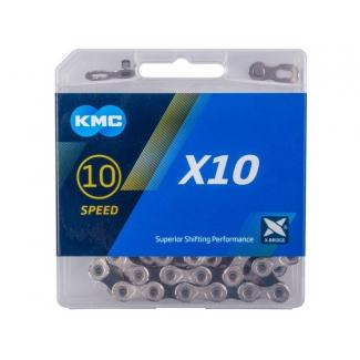 Řetěz KMC X 10 stříbrno-černá, 114 čl.
