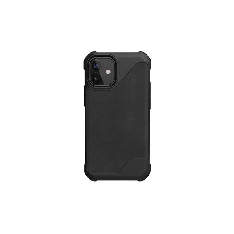 UAG Metropolis LT, LTHR black obal pro iPhone 12 mini
