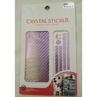 Karbonová crystal fólie pro iPhone 5, 5S, SE komplet